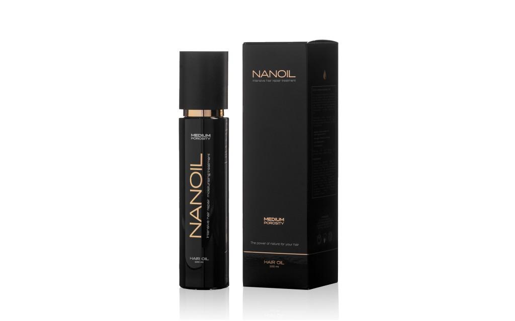 Nanoil for medium porosity hair oil